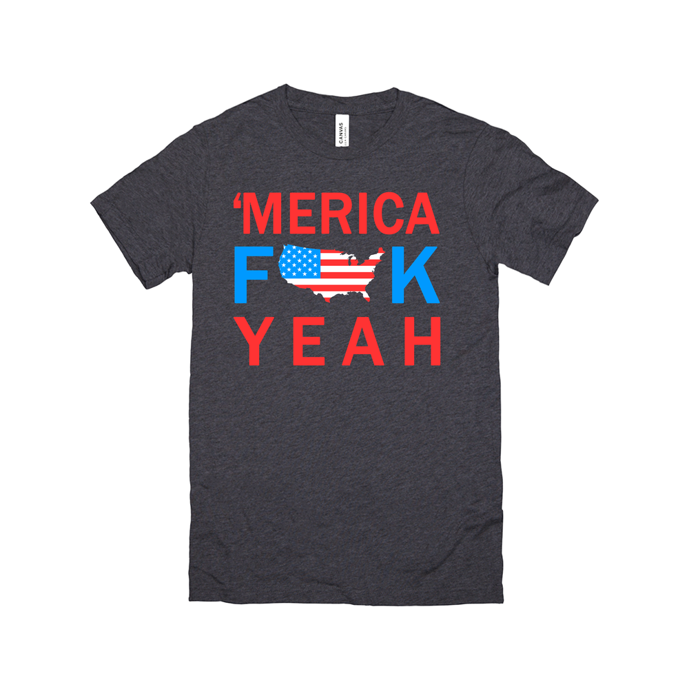 funny fourth of july patriotic 'merica fuck yeah basic tee