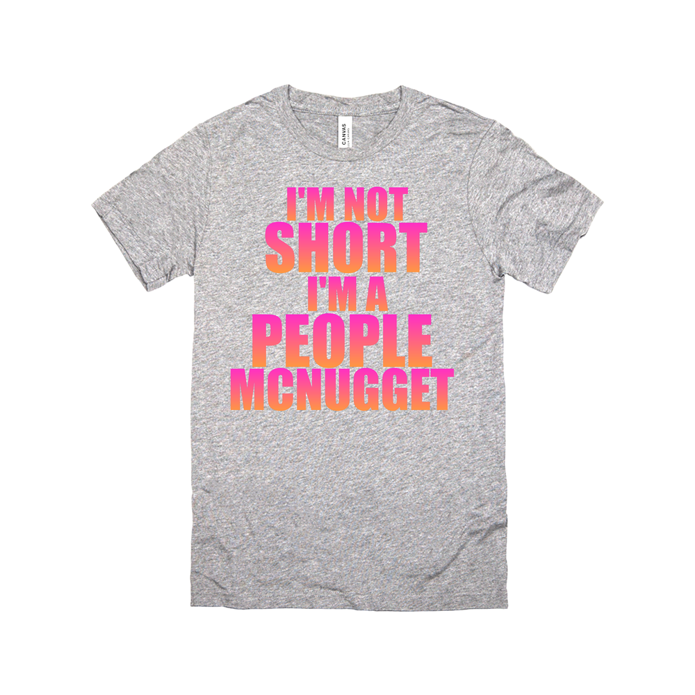 I'M NOT SHORT I'M A PEOPLE MCNUGGET PINK/BLK TANK