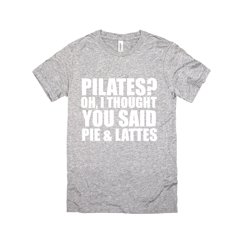PILATES PIE AND LATTES BLK TANK
