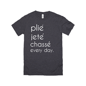 plie jete chasse everyday racerback