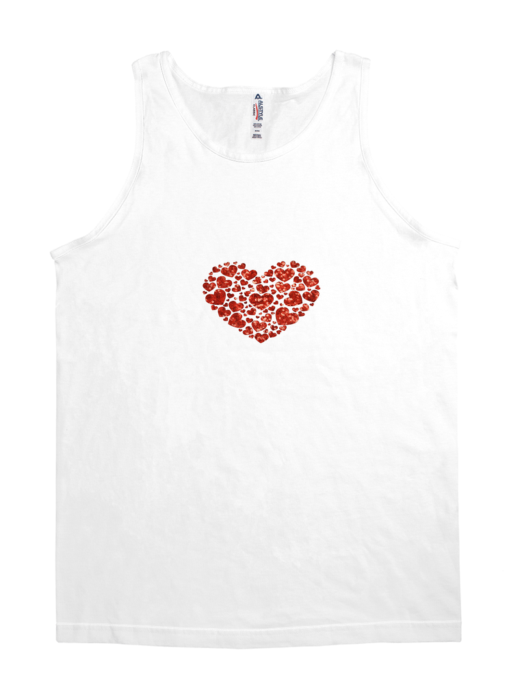 valentines day sequin heart top tee shirt t-shirt