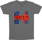 sequin hillary clinton logo tee shirt top t-shirt
