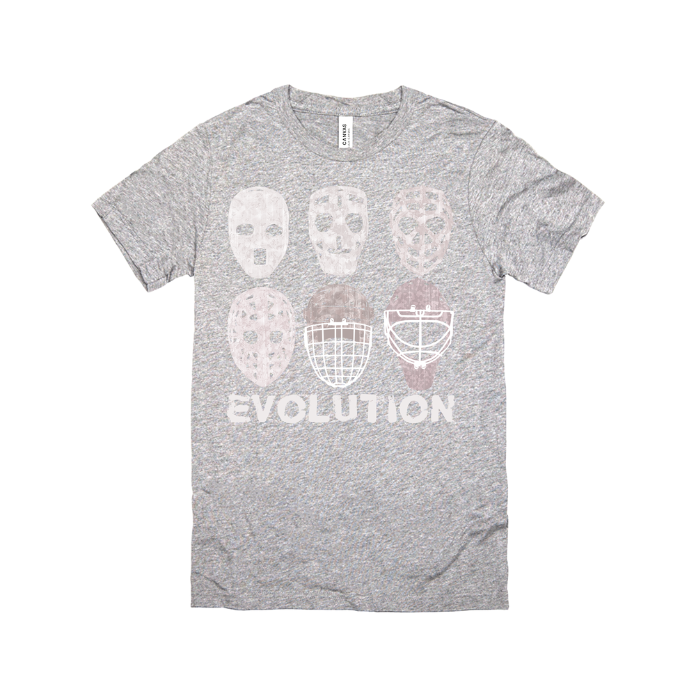 Hockey Goalie Mask Evolution Tee