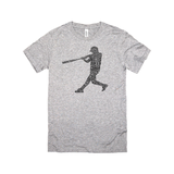 Softball Baseball Player Calligram Tee