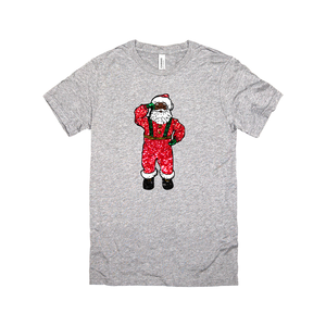 glitter black santa claus sweatshirt top shirt