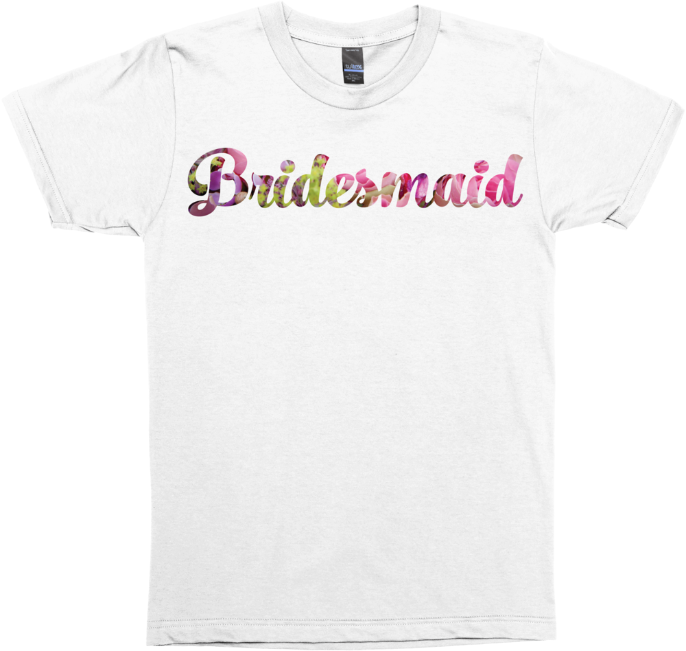 Floral Bridesmaid (Wedding Party Group Shirts)