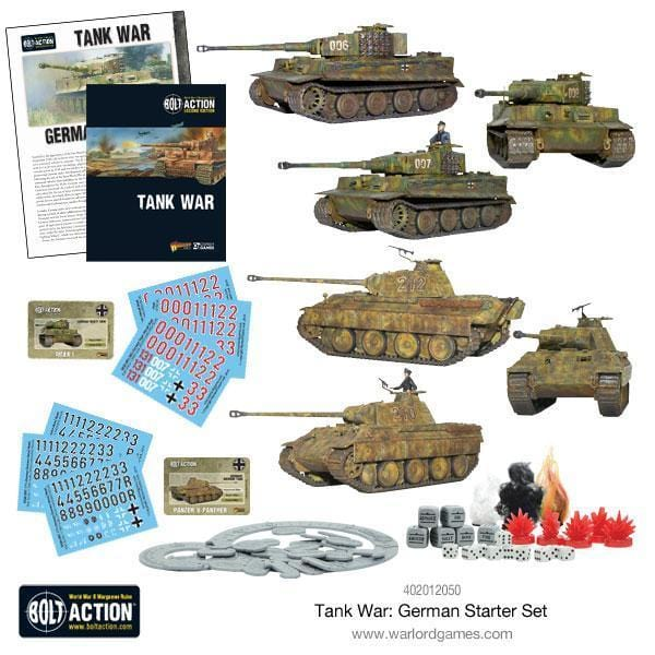 Tank War German starter set - Monsieur Miniatures