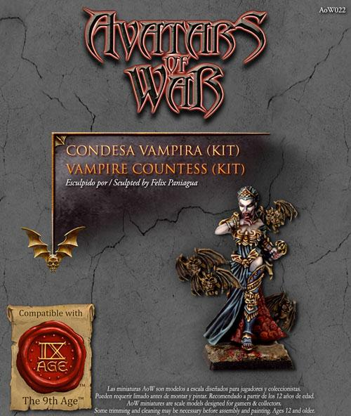 Vampire Countess (Kit) - Boutique Monsieur Miniatures