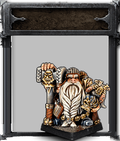 Dwarf Thane with great weapon - Boutique Monsieur Miniatures