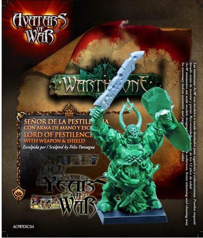 Lord of Pestilence with weapon and shield - Monsieur Miniatures