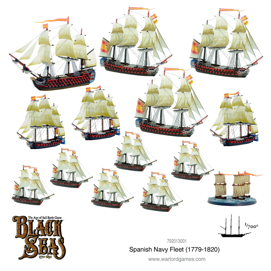 Black Seas - Spanish Navy Fleet (1770 - 1830)