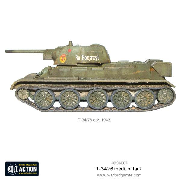 Bolt Action - T34/76 Medium Tank