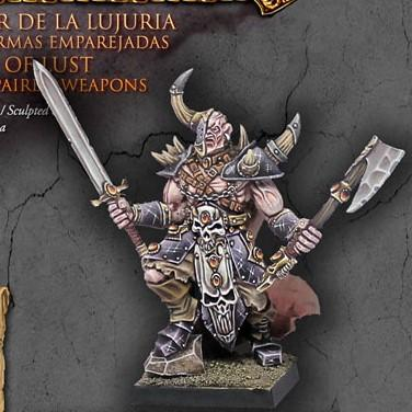 Lord of Lust with paired weapons - Boutique Monsieur Miniatures