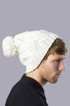 Thames Hand-Knitted Hat  in White