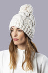 Thames Hand-Knitted Hat Off White