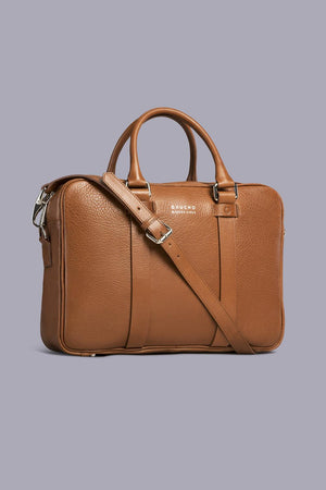 Lobos Leather Briefcase in Brown