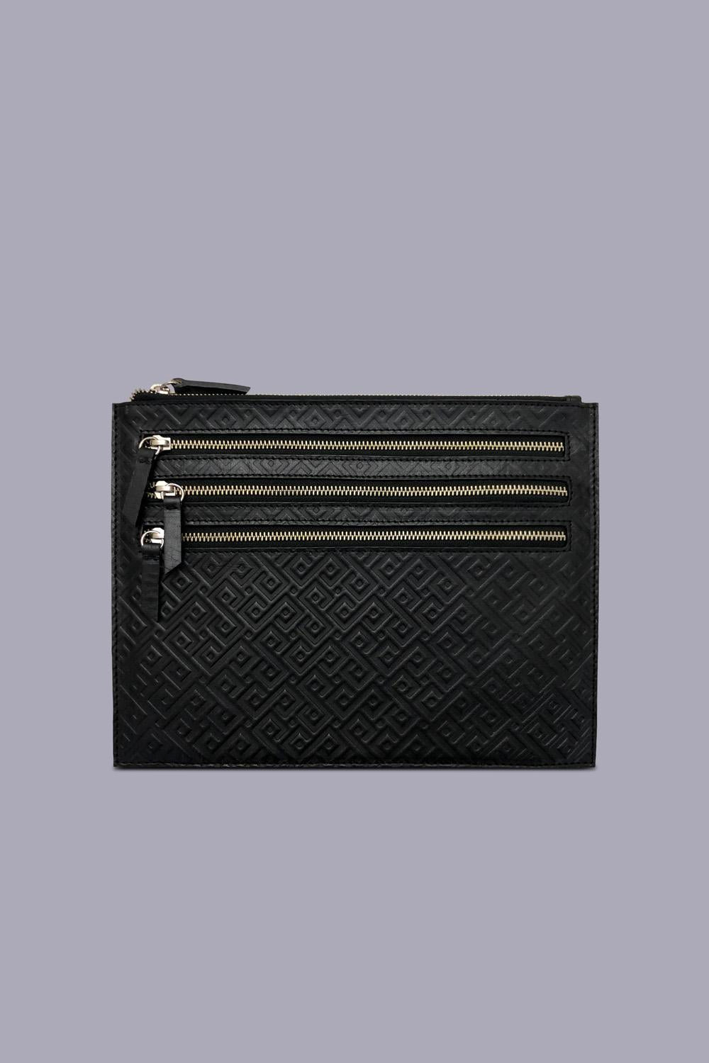 Embossed Iguazu iPad Case in Black
