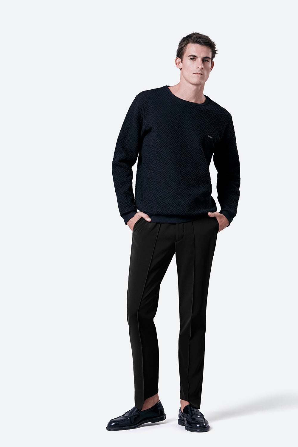 Laprida Gaucho Pattern Sweatshirt in Black