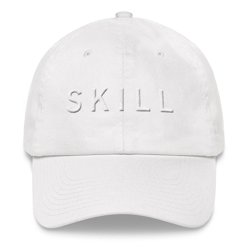 SKILL White Ball Cap >>3D