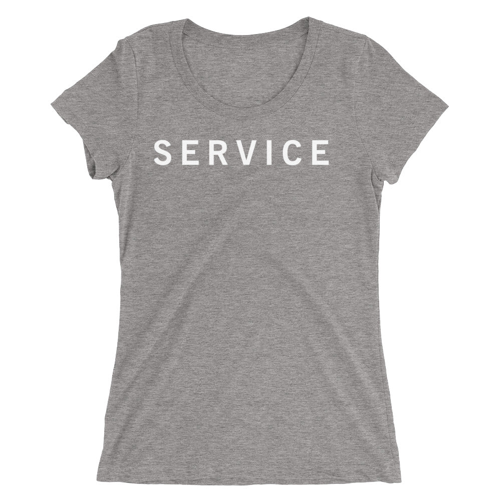 SERVICE STANDARD BADGE Ladies' short sleeve t-shirt
