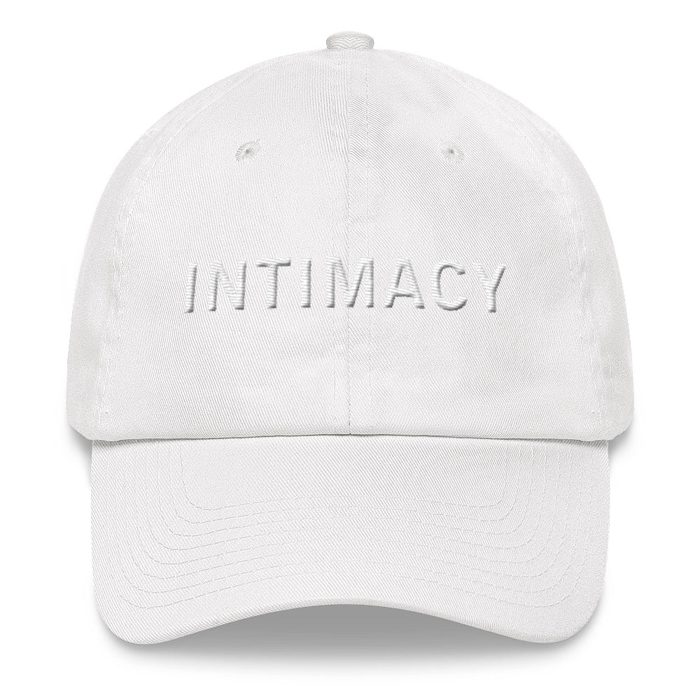 INTIMACY White Ball Cap >>3D