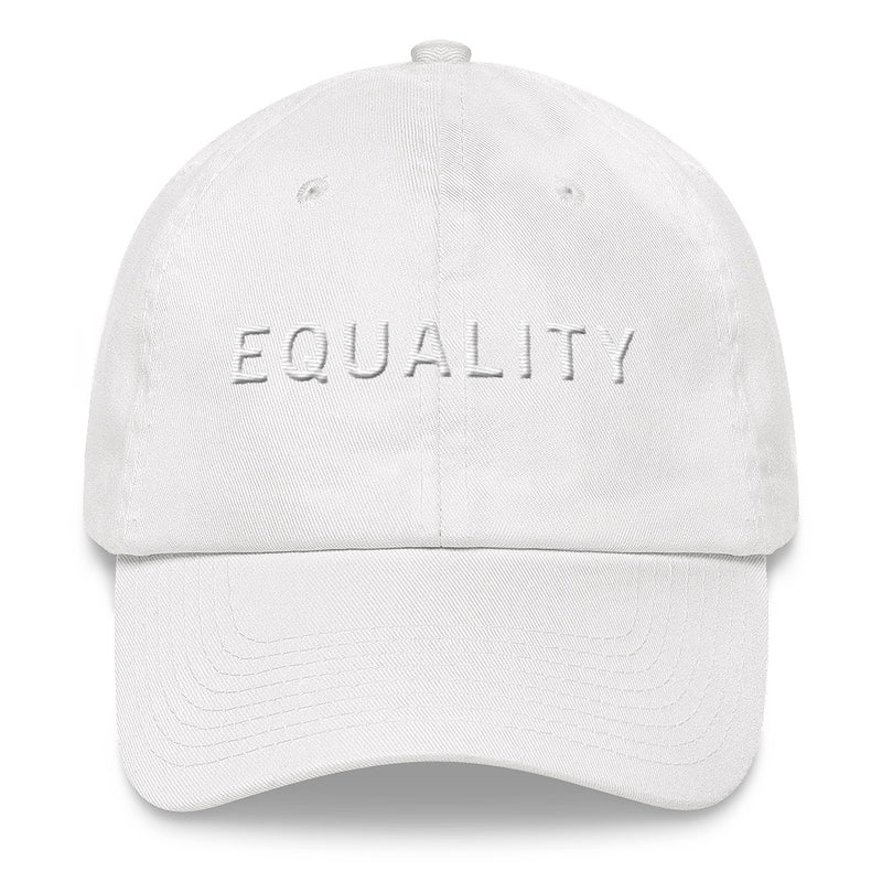 EQUALITY White Ball Cap >> 3D