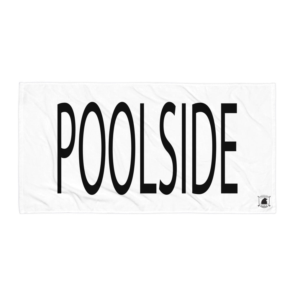 STANDARD BADGE POOLSIDE TOWEL LARGE