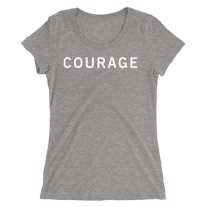 COURAGE STANDARD BADGE Ladies' short sleeve t-shirt