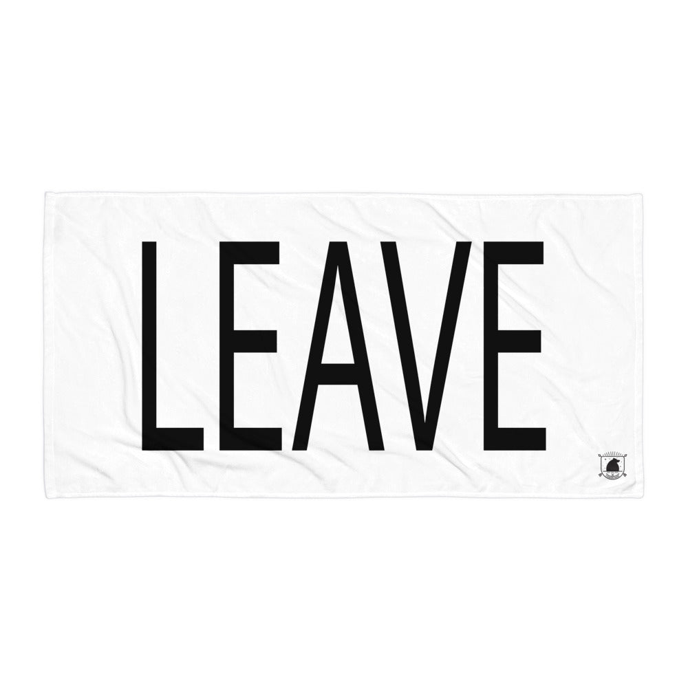 STANDARD BADGE LEAVE TOWEL LARGE