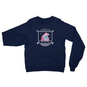 Womens Sweatshirt Navy Standard Badge Floral Bear