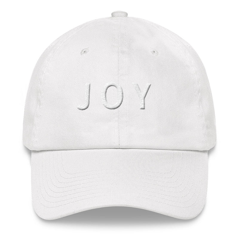 JOY White Ball Cap >>3D