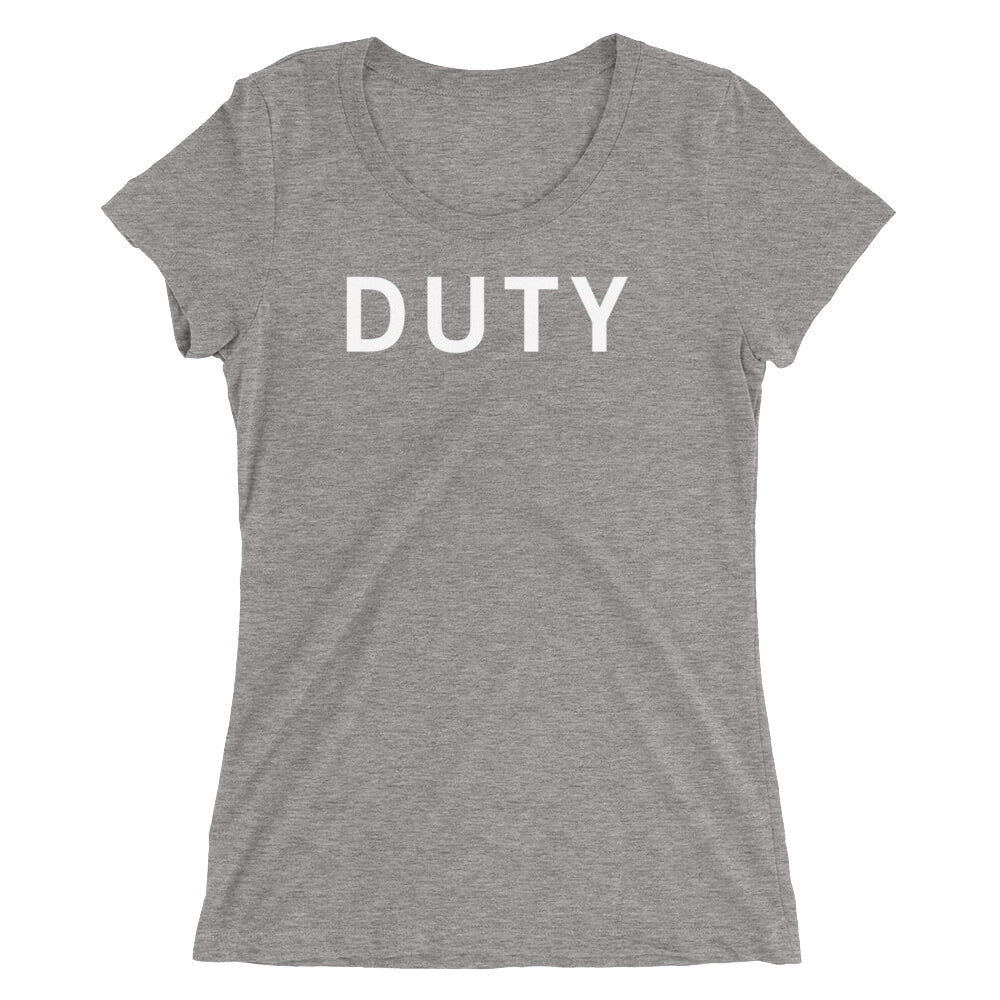 DUTY STANDARD BADGE Ladies' short sleeve t-shirt
