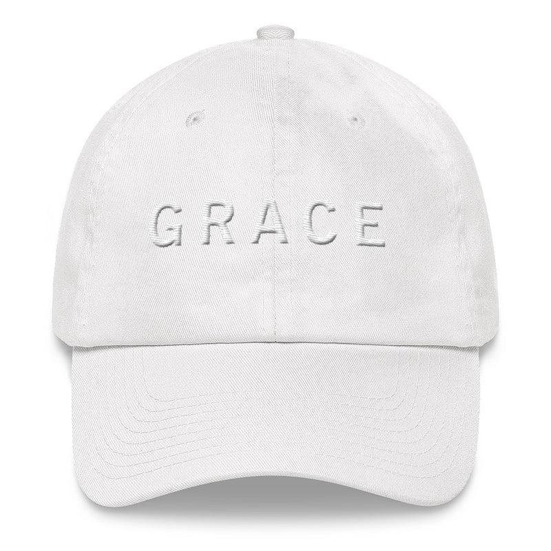 GRACE White Ball Cap >>3D