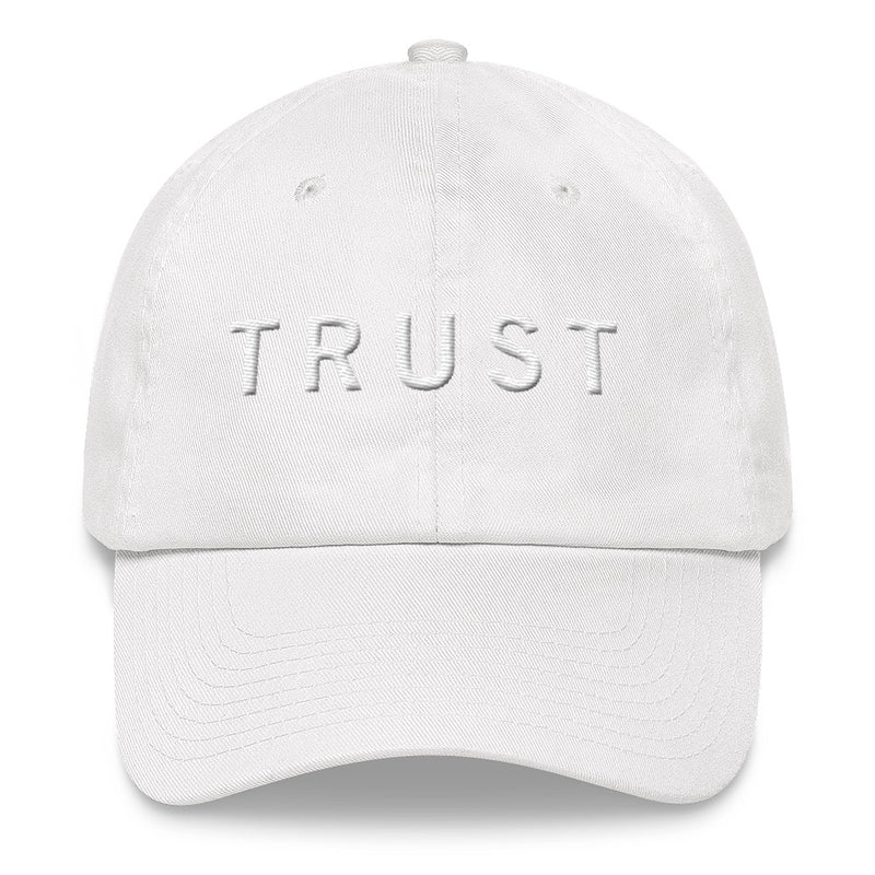 TRUST White Ball Cap >>3D