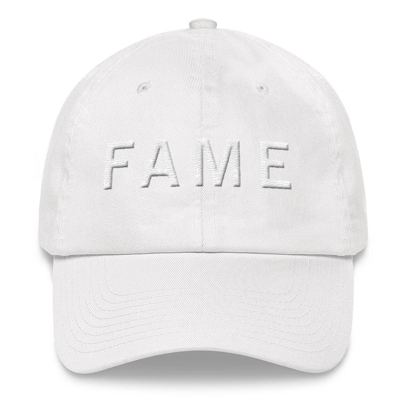 FAME White Ball Cap >> 3D