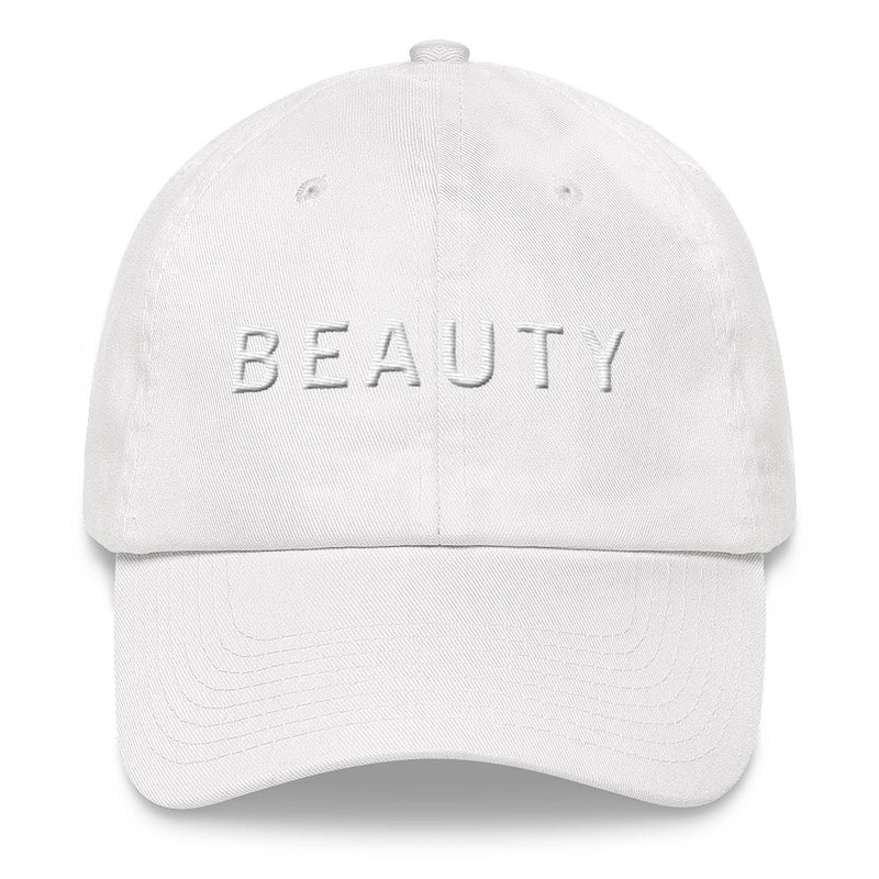 BEAUTY White Ball Cap >> 3D
