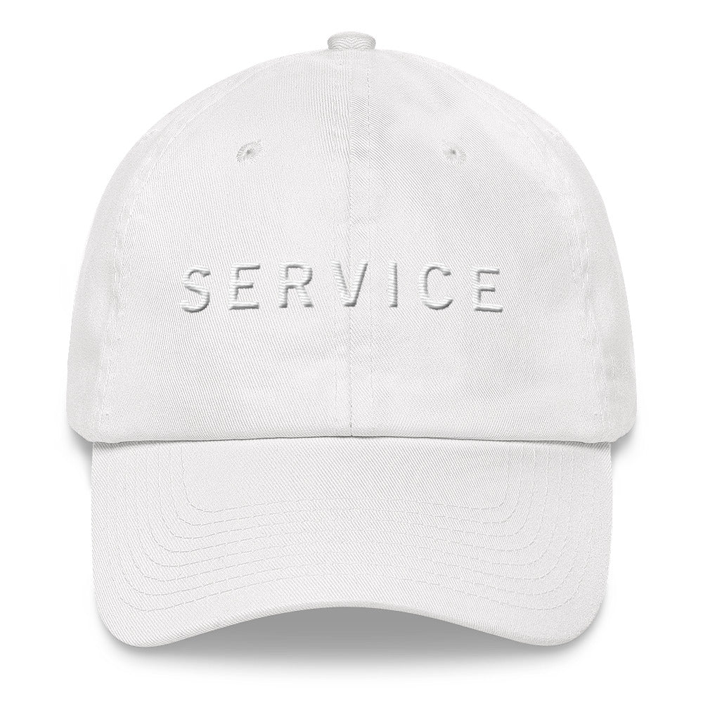 SERVICE White Ball Cap >>3D