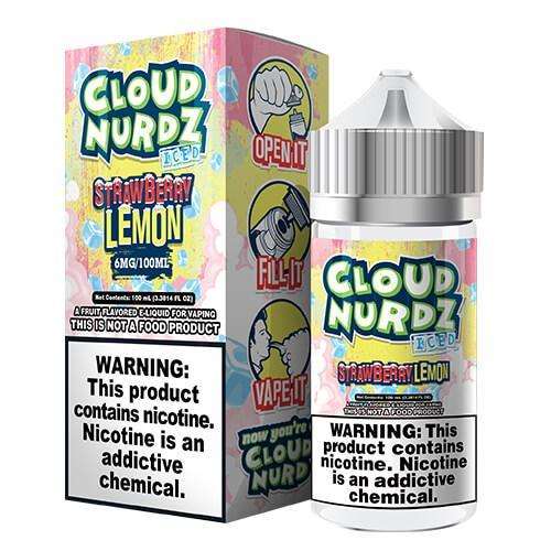 Cloud Nurdz eJuice Iced - Strawberry Lemon Iced