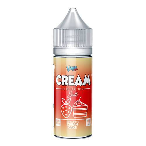 Cream Collection by Vape 100 Salts - Strawberry Cream Cake