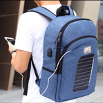 BeyLe Solar USB Charge Bag Anti-theft Waterproof Backpack