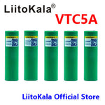 5pcs LiitoKala vtc5a for US18650VTC5A 2600mAh High Drain VTC5 35A battery for Vape
