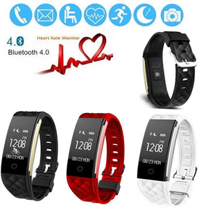 Waterproof Heart Rate GPS Smart Wristband Watch Bracelet Sport Fitness Tracker
