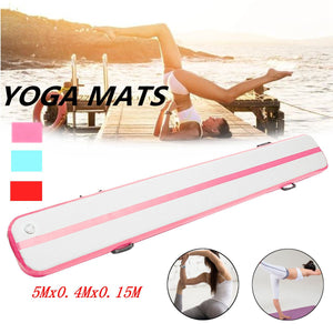 500*40*15cm Pink Inflatable Air Gymnastics/Yoga Mat