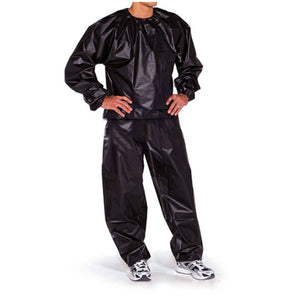 Black L unisex Sweat Sauna Suit