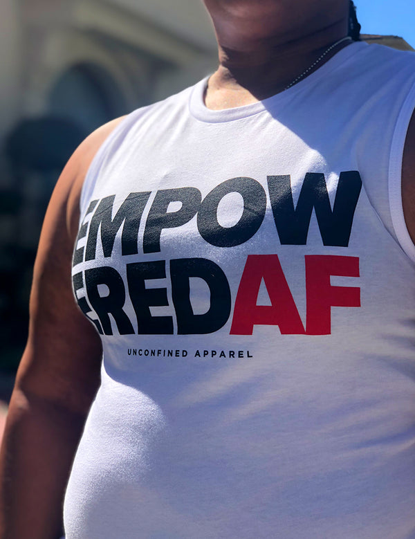Empowered AF Muscle Tank (Women's) - Unconfined. Apparel