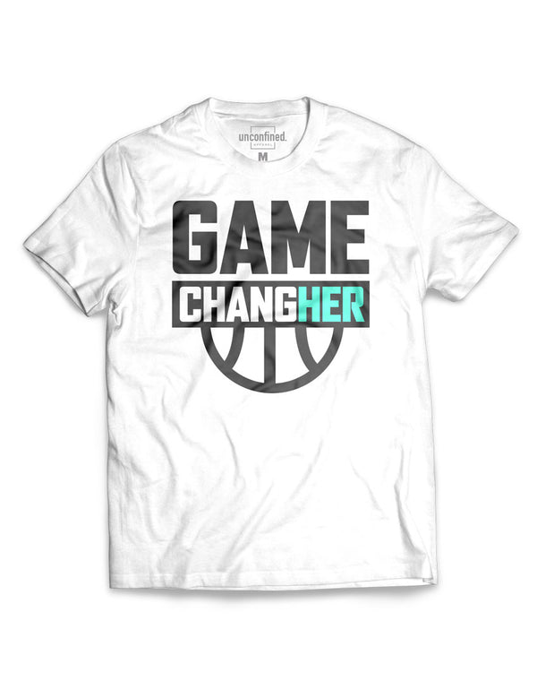 Game ChangHER Basketball Tee (unisex) - Unconfined. Apparel