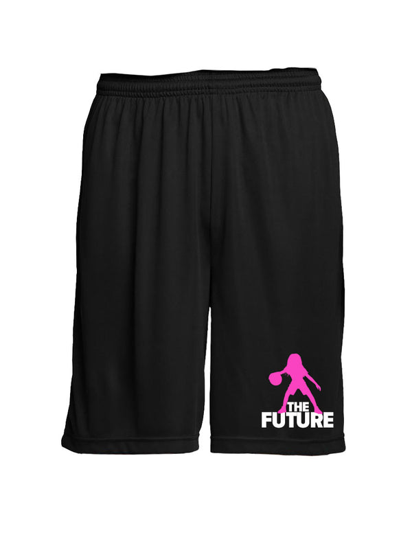 Youth Performance Shorts - Black/Pink/White - Unconfined. Apparel
