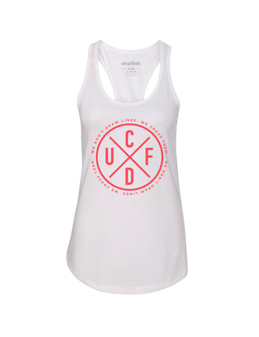 Performance Tank - White/Coral
