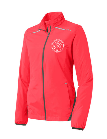 Reflective Track Jacket - Coral (Women's)