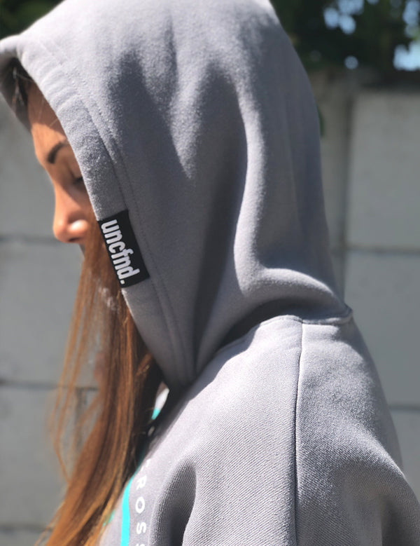 UCFD Cropped Hoodie - Grey - Unconfined. Apparel